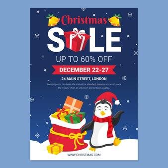 Kerstaffichemalplaatje voor geïllustreerde verkoop