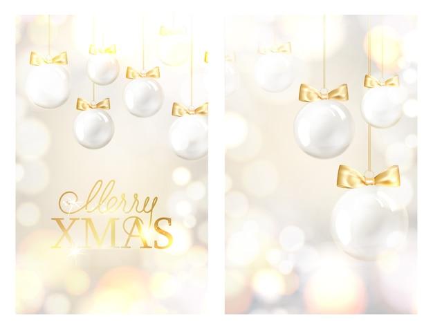 Kerstbal met gouden linten