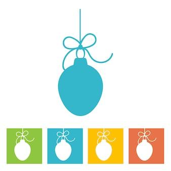 Kerstbal. nieuwjaar pictogram. vector illustratie