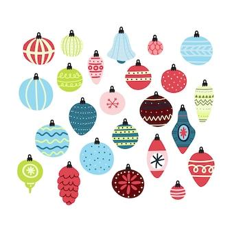 Kerstballen clipart collectie