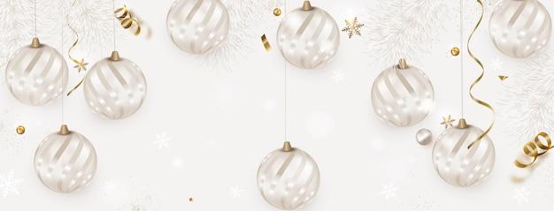Kerstballen decoratie, sjabloon voor spandoek