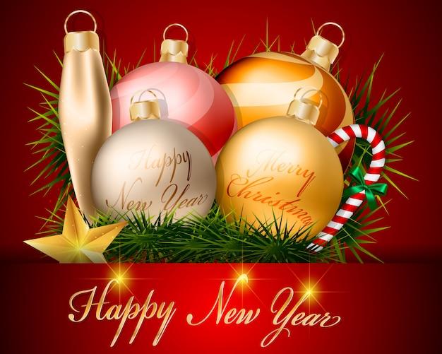 Kerstballen decoraties en accessoires ontwerp.