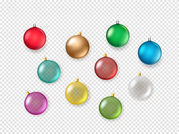 Kerstballen geïsoleerd