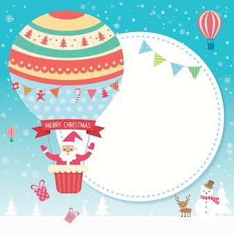 Kerstballon sneeuw