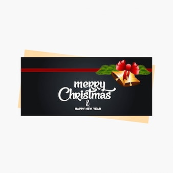Kerstbanner met elegante decoratie