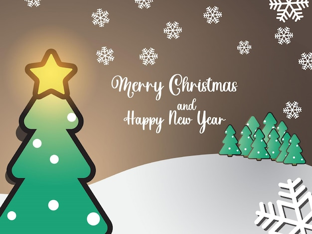 Kerstbanner plat ontwerp als achtergrond