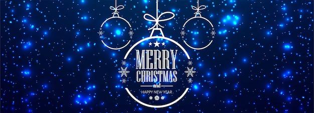 Kerstbanner voor kerstbal voor glanzende glitters