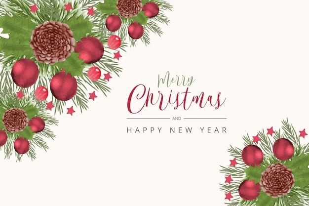 Kerstbanner xmas sprankelende lichtslinger met rad klatergoud horizontale kerst
