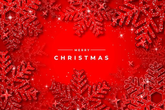 Kerstbehang met glittereffect
