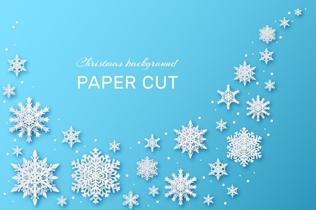 Kerstbehang met papier gesneden sneeuwvlok