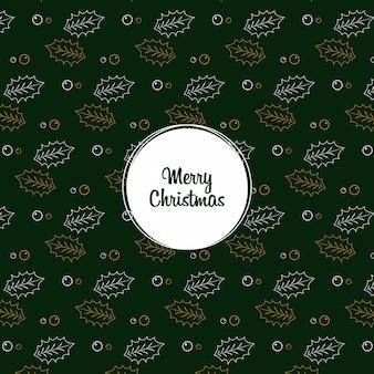 Kerstblad naadloze patroon