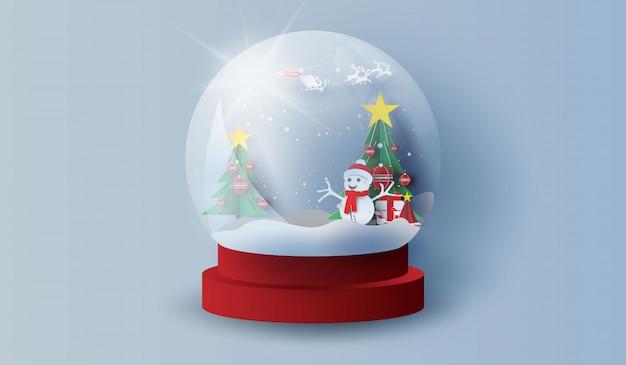 Kerstbomen in bos. gelukkig nieuwjaar en merry christmas day