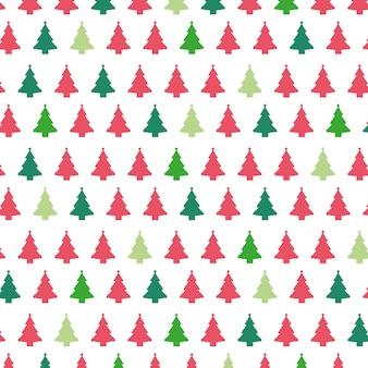 Kerstbomen patroon achtergrond.