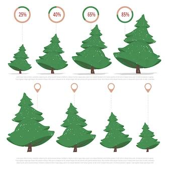 Kerstbomen productie infographics