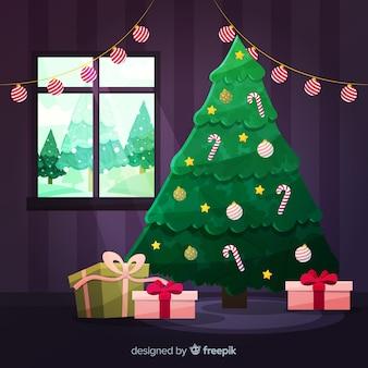 Kerstboom achtergrond