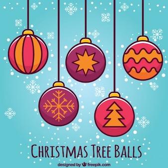 Kerstboom bal pictogrammen