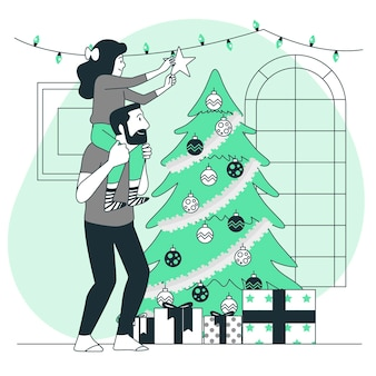 Kerstboom concept illustratie