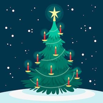 Kerstboom concept Gratis Vector