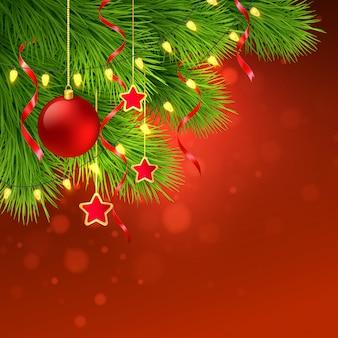 Kerstboom decoratie achtergrond