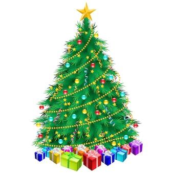Kerstboom en geschenken