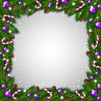 Kerstboom frame en snoep stokken