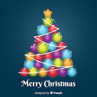 Kerstboom gemaakt van gloeilampen