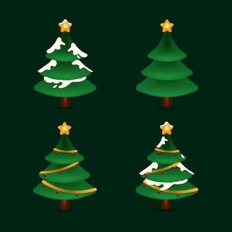 Kerstboom illustratie gratis vector