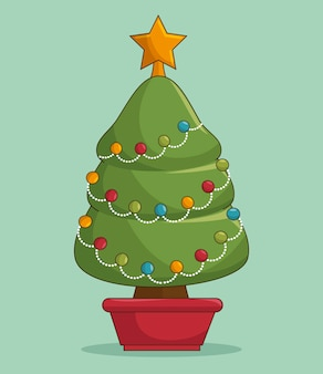 Kerstboom illustraties