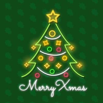 Kerstboom in neon