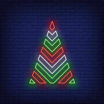 Kerstboom in neonstijl