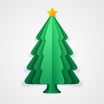 Kerstboom in papierstijl