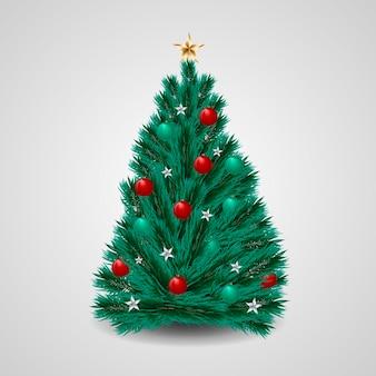 Kerstboom in realistische stijl