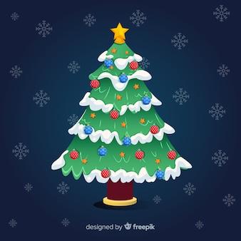 Kerstboom kerst achtergrond