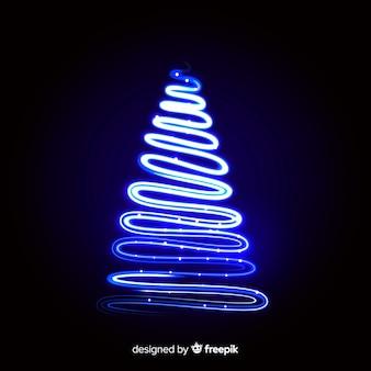 Kerstboom lichte lijn achtergrond