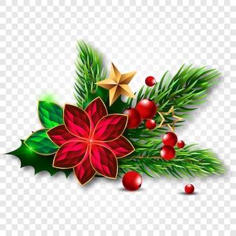 Kerstboom met maretak gemaakt van juwelen.