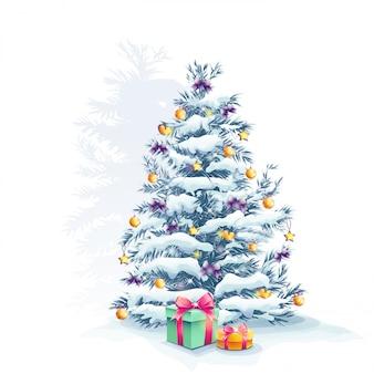Kerstboom met speelgoed en geschenken
