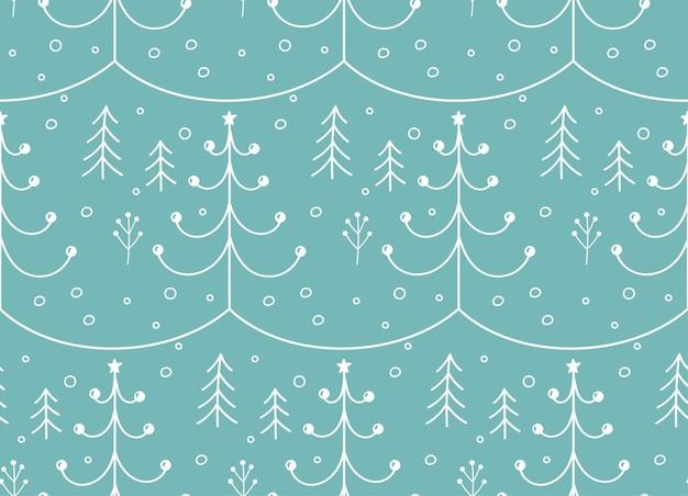 Kerstboom naadloze patroon