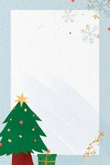 Kerstboom op blauwe achtergrond