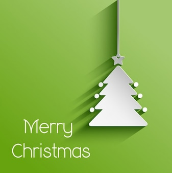 Kerstboom papier achtergrond