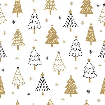 Kerstboom patroon achtergrond.