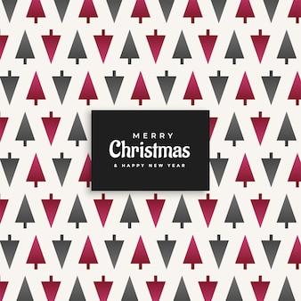 Kerstboom patroon ontwerp achtergrond