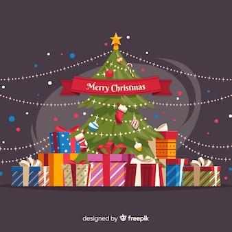 Kerstboom presenteert achtergrond