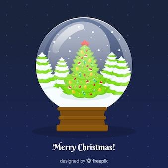 Kerstboom sneeuwbal