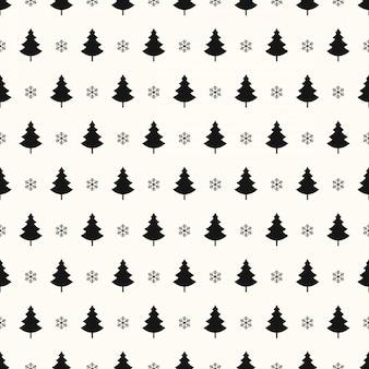 Kerstboom sneeuwvlokken naadloze patroon