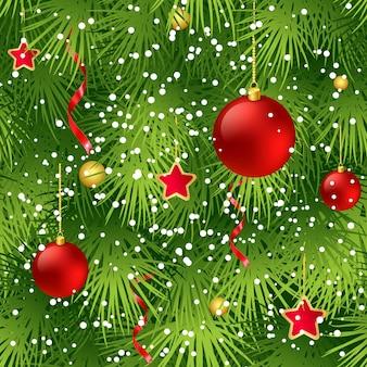 Kerstboom spar tak naadloze achtergrond. vectorillustratie eps 10