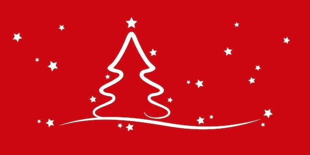 Kerstboom sterren rode achtergrond