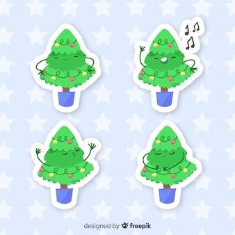 Kerstboom sticker set