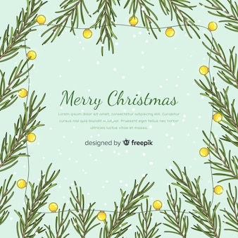 Kerstboom takken achtergrond