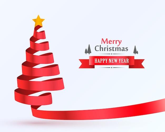 Kerstboom tape ontwerp banner. vector illustratie