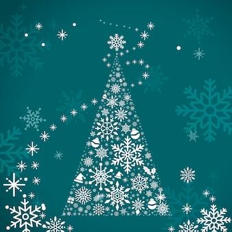 Kerstboom vakantie ontwerp achtergrond vector